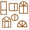 wooden windows vector image