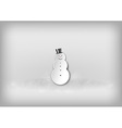 christmass snowman grey vector image vector image