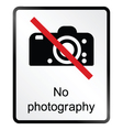 No Photography Information Sign vector image