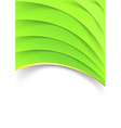 Bright green layered folder template vector image vector image