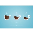 Cup of coffee with heart vector image vector image