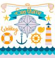 sailor theme vector image