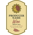 wine label with sun and moon vector image vector image