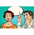 Man and woman a secret hearing gossip vector image