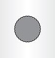 Black background label circle frame design vector image