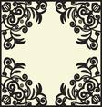 black design pattern vector image