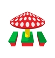 Children canopi mushroom cartoon icon vector image