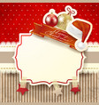 christmas background with label in red vector image