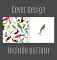 cover design with parrot birds pattern vector image