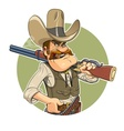 Cowboy with gun vector image