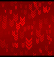 Down Red Arrow Seamless Pattern Background vector image