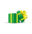 green opened present vector image