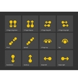 Multi-touch gestures for tablets or phone icons vector image