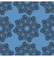 Ornamental seamless pattern on blue texture vector image
