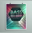 stylish music party event flyer brochure template vector image