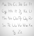 Set of hand draw fonts vector image