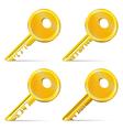 Set of Gold Keys vector image vector image
