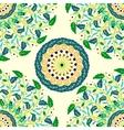 doodle floral background vector image vector image