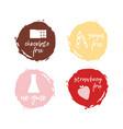 Set of food labels - allergens food intolerance vector image