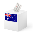 Ballot box with voting paper Australia vector image