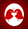 Romantic Wedding card design with birds vector image