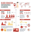 Blood Donor Infographic vector image
