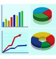 multicolored diagrams vector image vector image