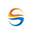 circle shape 3D technology logo vector image