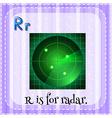 Alphabet R is for radar vector image