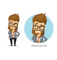 businessman is pensive thinking vector image