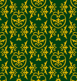Damask green vector image