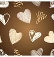 Love hearts sketch hand drawn vector image