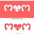 Love mom sign vector image