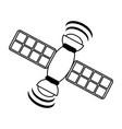 satelite information world vector image