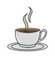 scribble coffee cup cartoon vector image