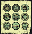 set of retro styled labels with grunge background vector image