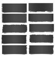 Ten black notes paper vector image