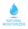 water - natural moisturizer square concept poster vector image