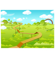 Wooden freeways over forest vector image