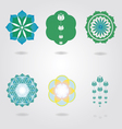 Floral mini Mandalas set vector image vector image