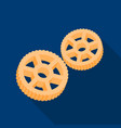 rotelle pasta icon in flate style isolated on vector image