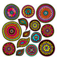 set of zentangle elements indian patterns vector image