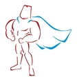 Defender in costume vector image