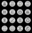 Steel texture buttons vector