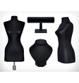Black mannequins objects vector image