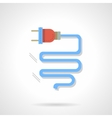 Electrical component flat color design icon vector image vector image
