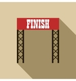 Finish line icon in flat style vector image