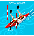 Kayak Slalom Double 2016 Summer Games Isometric 3D vector image