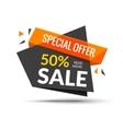 Sale banner Marketing background Big sale tag vector image