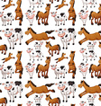 Seamless cow and horse vector image